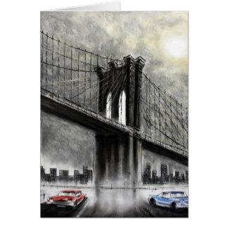 Puente de Brooklyn, los E.E.U.U. Tarjeta De Felicitación