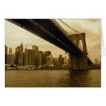 Puente de Brooklyn/Manhattan Felicitaciones