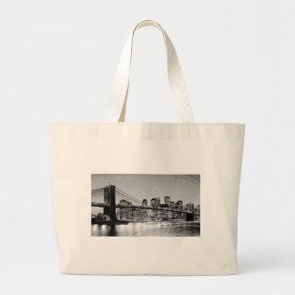 Puente de Brooklyn New York City Bolsa Tela Grande