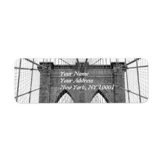 Puente de Brooklyn, New York City Etiqueta De Remite