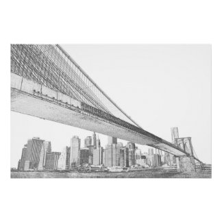 Puente de Brooklyn, New York City Posters