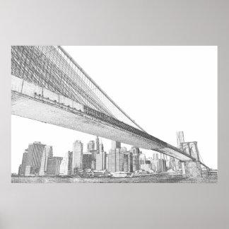 Puente de Brooklyn, New York City Póster