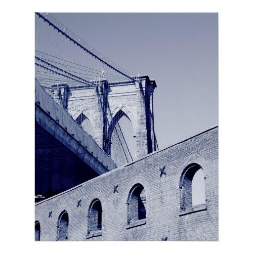 Puente de Brooklyn, New York City Poster