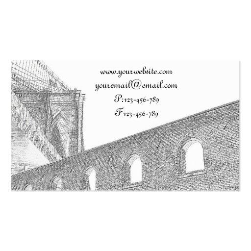 Puente de Brooklyn, New York City Tarjetas De Visita