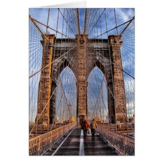 Puente de Brooklyn New York City Tarjeta De Felicitación