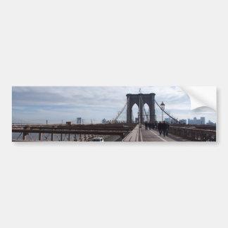 Puente de Brooklyn - nr 1 de NY Nueva York Etiqueta De Parachoque