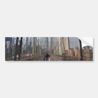 Puente de Brooklyn - nr 2 de NY Nueva York Etiqueta De Parachoque