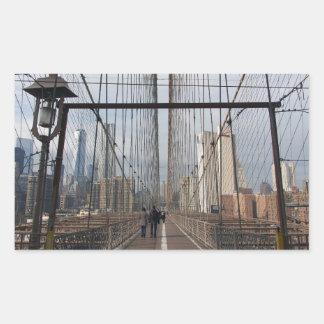 Puente de Brooklyn - nr 2 de NY Nueva York Pegatina Rectangular