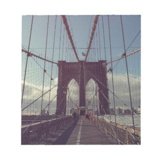 Puente de Brooklyn, Nueva York Bloc De Notas