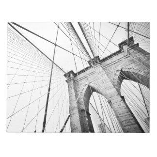Puente de Brooklyn, Nueva York Bloc De Papel