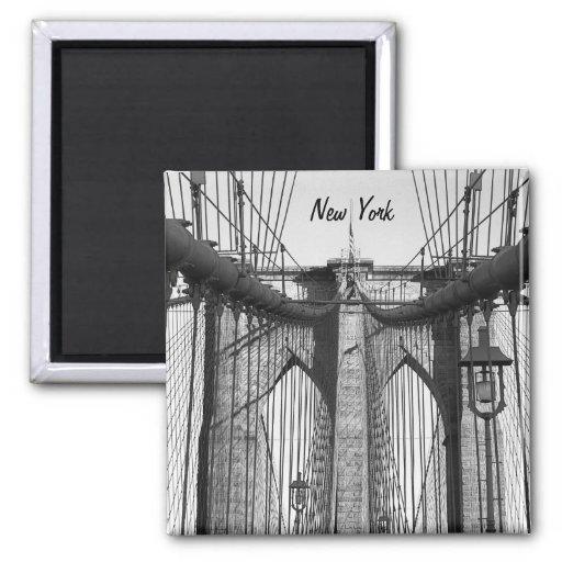 Puente de Brooklyn, Nueva York Imán Cuadrado