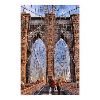 Puente de Brooklyn Nueva York los E.E.U.U. Papelería