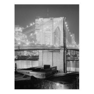 Puente de Brooklyn Nueva York los E.E.U.U. Tarjetas Postales
