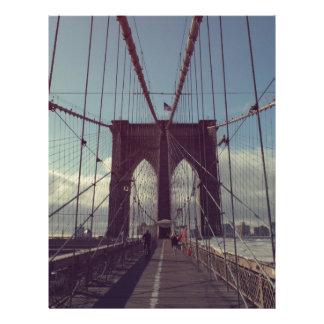 Puente de Brooklyn, Nueva York Plantillas De Membrete