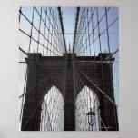 Puente de Brooklyn, Nueva York, NY, los E.E.U.U. 2 Poster
