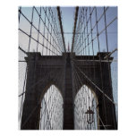 Puente de Brooklyn, Nueva York, NY, los E.E.U.U. 2 Póster