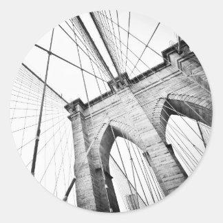 Puente de Brooklyn, Nueva York Pegatina Redonda