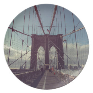 Puente de Brooklyn Nueva York Plato