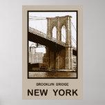 Puente de Brooklyn Nueva York Posters