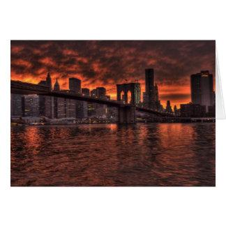 Puente de Brooklyn Nueva York Tarjeta De Felicitación