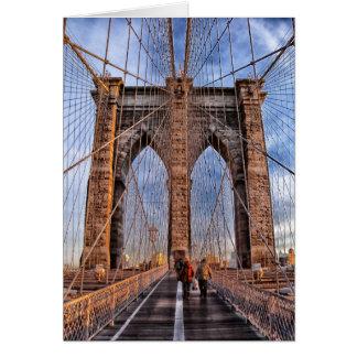 Puente de Brooklyn, Nueva York Tarjeta De Felicitación