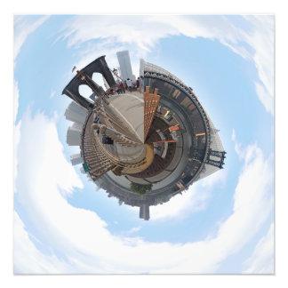 Puente de Brooklyn NYC panorama de 360 grados Fotografías