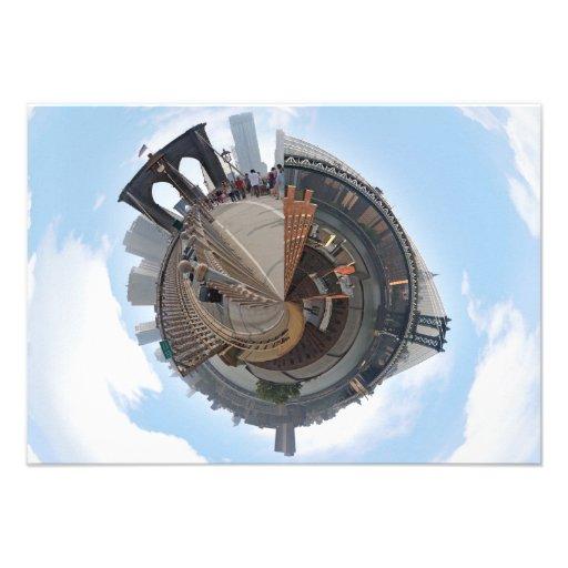 Puente de Brooklyn NYC panorama de 360 grados Invitacion Personalizada