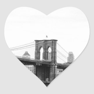 Puente de Brooklyn Pegatina En Forma De Corazón
