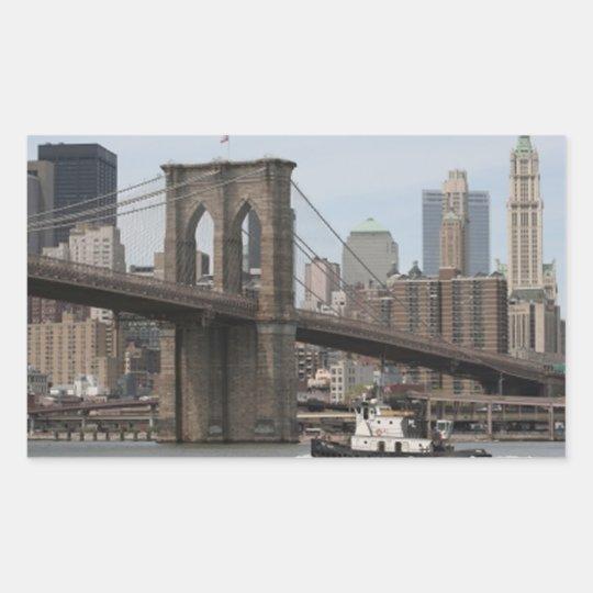 Puente de Brooklyn Pegatina Rectangular