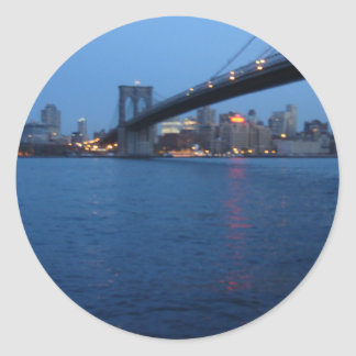 Puente de Brooklyn Pegatina Redonda