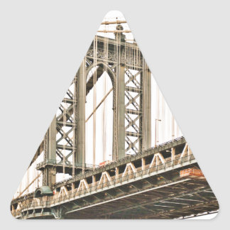 Puente de Brooklyn Pegatina Triangular
