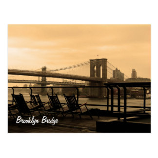Puente de Brooklyn (personalizar él!) Postal