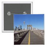 Puente de Brooklyn Pin Cuadrado