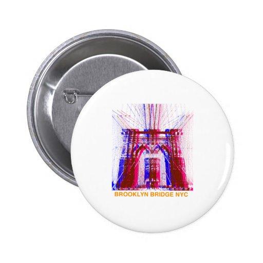 puente de Brooklyn Pin Redondo 5 Cm