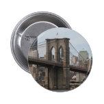 Puente de Brooklyn Pin Redondo De 2 Pulgadas