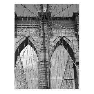 Puente de Brooklyn - postal de B&W
