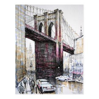 Puente de Brooklyn, postal de los E.E.U.U.