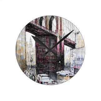 Puente de Brooklyn, reloj de pared de los E.E.U.U.