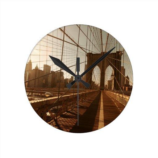 Puente de Brooklyn Relojes De Pared