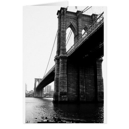 Puente de Brooklyn Tarjeta De Felicitación