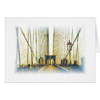 Puente de Brooklyn tarjeta de nota de New York Ci