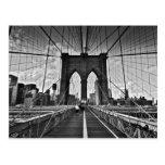 Puente de Brooklyn Tarjeta Postal