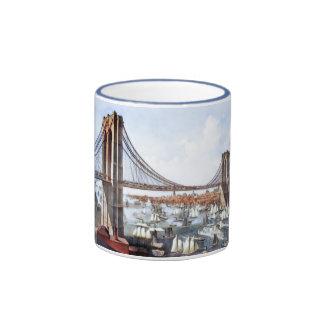 Puente de Brooklyn Taza A Dos Colores
