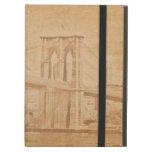 Puente de Brooklyn viejo del estilo de la postal