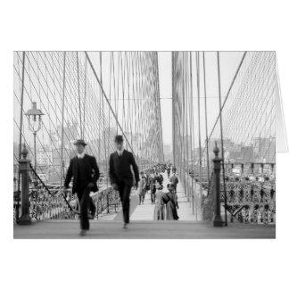 Puente de Brooklyn Walkway, 1905 Tarjeta De Felicitación