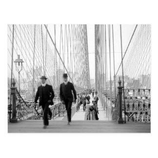 Puente de Brooklyn Walkway, 1905 Tarjetas Postales