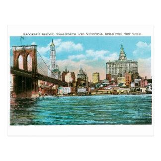 Puente de Brooklyn, Woolworth y Municipal… Tarjetas Postales