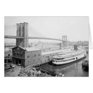 Puente de Brooklyn y Docks, 1905 Tarjeta De Felicitación