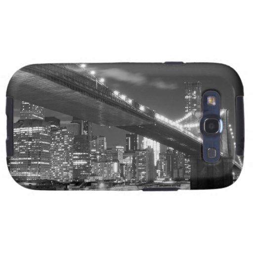 Puente de Brooklyn y horizonte de Manhattan en la  Samsung Galaxy S3 Cobertura