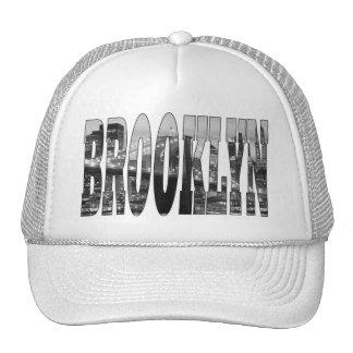 Puente de Brooklyn y horizonte de Manhattan en la  Gorros Bordados